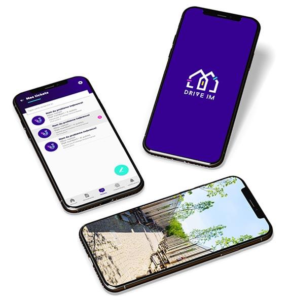 Application DriveIM pour smartphone