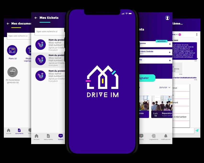 App DriveIM smartphone